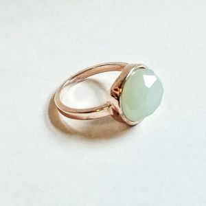Rose Gold and Green Stone Ring